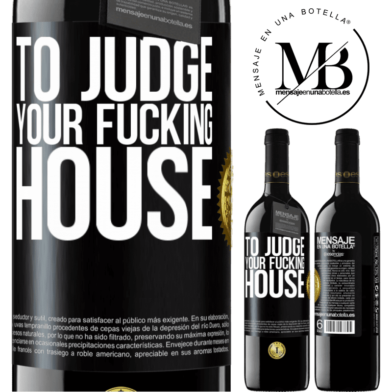 24,95 € Free Shipping | Red Wine RED Edition Crianza 6 Months To judge your fucking house Black Label. Customizable label Aging in oak barrels 6 Months Harvest 2018 Tempranillo