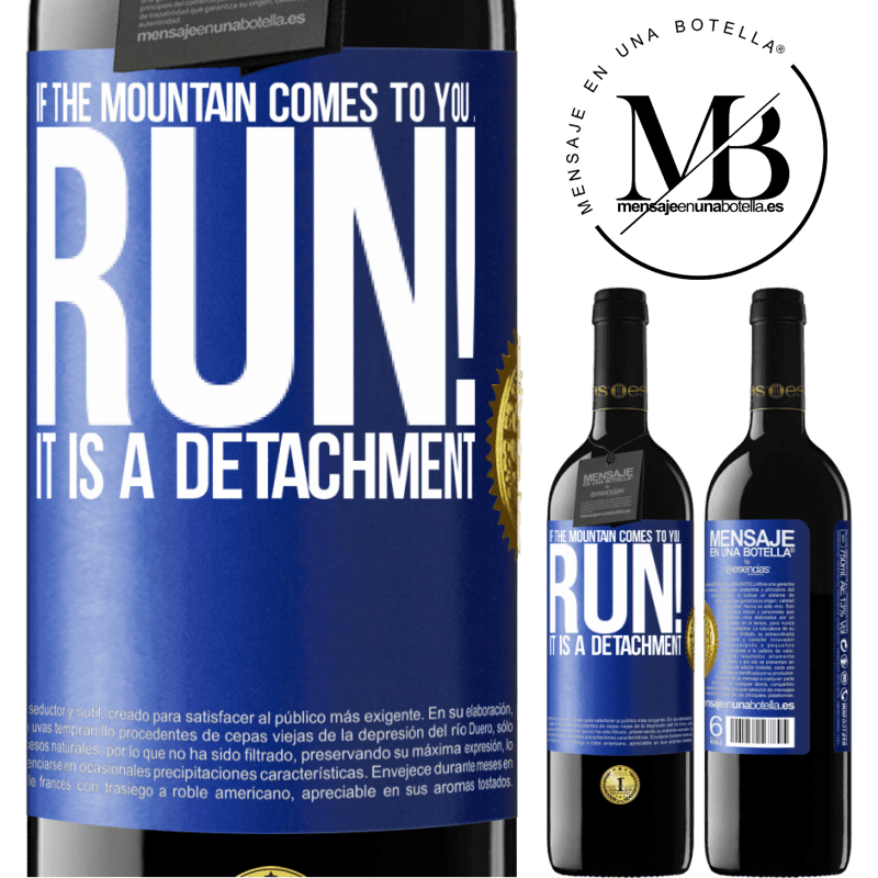 24,95 € Free Shipping | Red Wine RED Edition Crianza 6 Months If the mountain comes to you ... Run! It is a detachment Blue Label. Customizable label Aging in oak barrels 6 Months Harvest 2018 Tempranillo