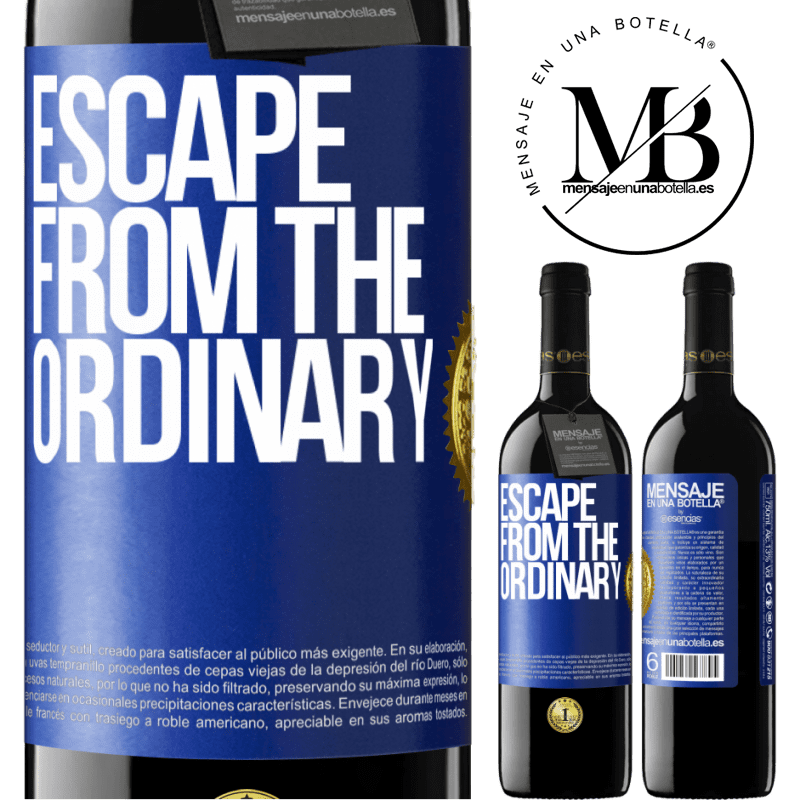 24,95 € Free Shipping | Red Wine RED Edition Crianza 6 Months Escape from the ordinary Blue Label. Customizable label Aging in oak barrels 6 Months Harvest 2018 Tempranillo