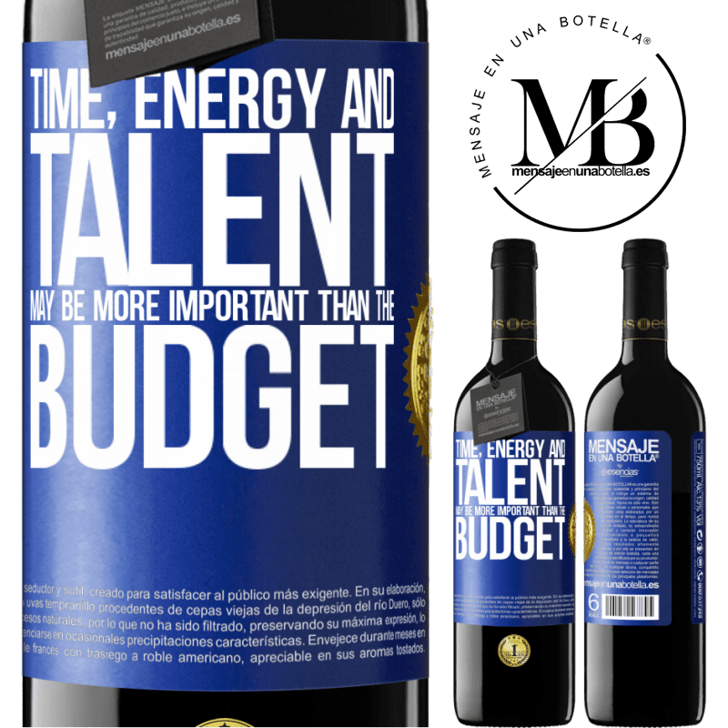 24,95 € Free Shipping | Red Wine RED Edition Crianza 6 Months Time, energy and talent may be more important than the budget Blue Label. Customizable label Aging in oak barrels 6 Months Harvest 2018 Tempranillo