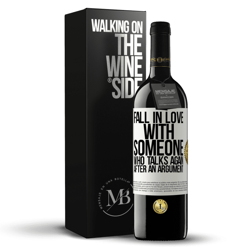24,95 € Free Shipping | Red Wine RED Edition Crianza 6 Months Fall in love with someone who talks again after an argument White Label. Customizable label Aging in oak barrels 6 Months Harvest 2018 Tempranillo