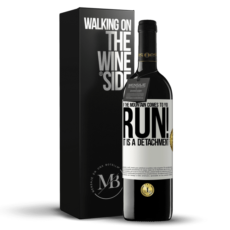 24,95 € Free Shipping | Red Wine RED Edition Crianza 6 Months If the mountain comes to you ... Run! It is a detachment White Label. Customizable label Aging in oak barrels 6 Months Harvest 2018 Tempranillo