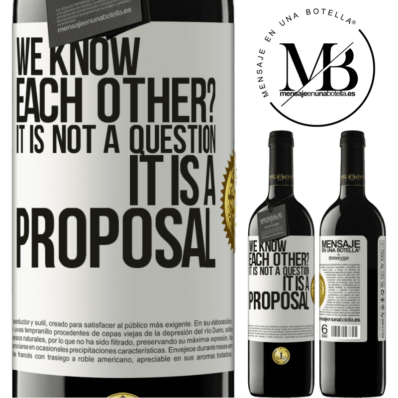 24,95 € Free Shipping | Red Wine RED Edition Crianza 6 Months We know each other? It is not a question, it is a proposal White Label. Customizable label Aging in oak barrels 6 Months Harvest 2018 Tempranillo