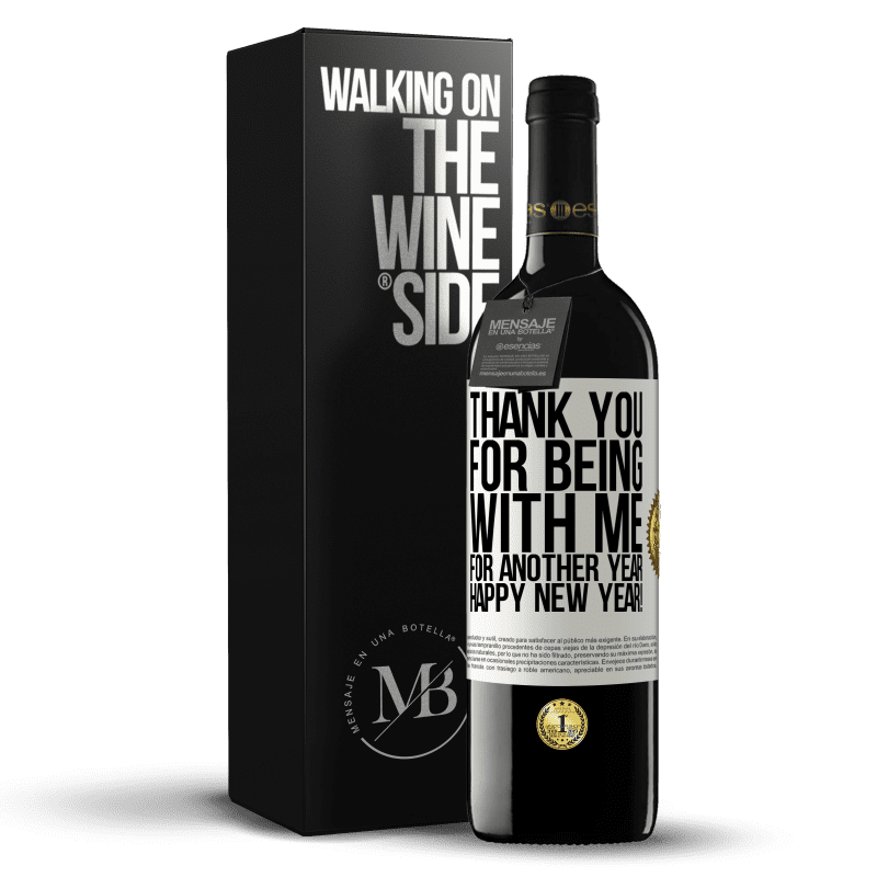 24,95 € Free Shipping | Red Wine RED Edition Crianza 6 Months Thank you for being with me for another year. Happy New Year! White Label. Customizable label Aging in oak barrels 6 Months Harvest 2018 Tempranillo