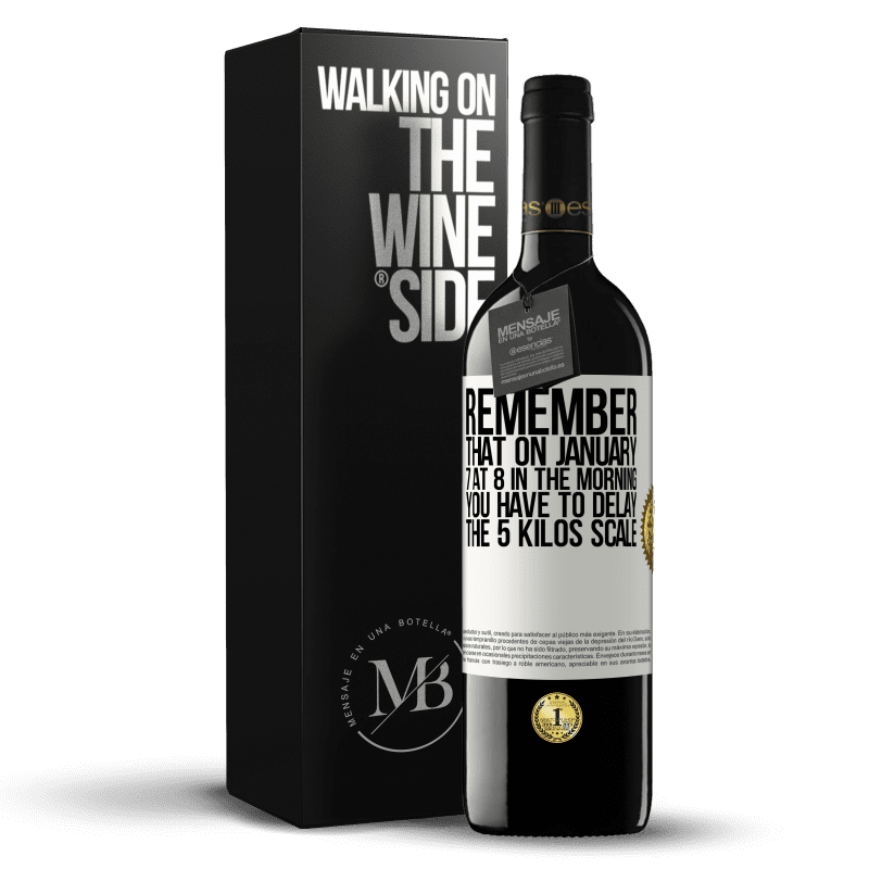24,95 € Free Shipping | Red Wine RED Edition Crianza 6 Months Remember that on January 7 at 8 in the morning you have to delay the 5 Kilos scale White Label. Customizable label Aging in oak barrels 6 Months Harvest 2018 Tempranillo