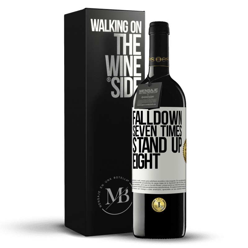24,95 € Free Shipping | Red Wine RED Edition Crianza 6 Months Falldown seven times. Stand up eight White Label. Customizable label Aging in oak barrels 6 Months Harvest 2018 Tempranillo