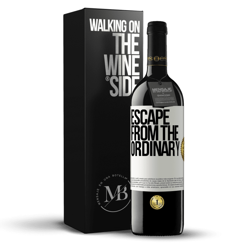 24,95 € Free Shipping   Red Wine RED Edition Crianza 6 Months Escape from the ordinary White Label. Customizable label Aging in oak barrels 6 Months Harvest 2018 Tempranillo