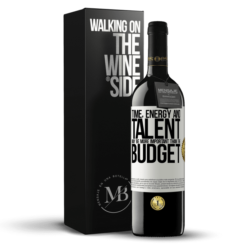 24,95 € Free Shipping | Red Wine RED Edition Crianza 6 Months Time, energy and talent may be more important than the budget White Label. Customizable label Aging in oak barrels 6 Months Harvest 2018 Tempranillo
