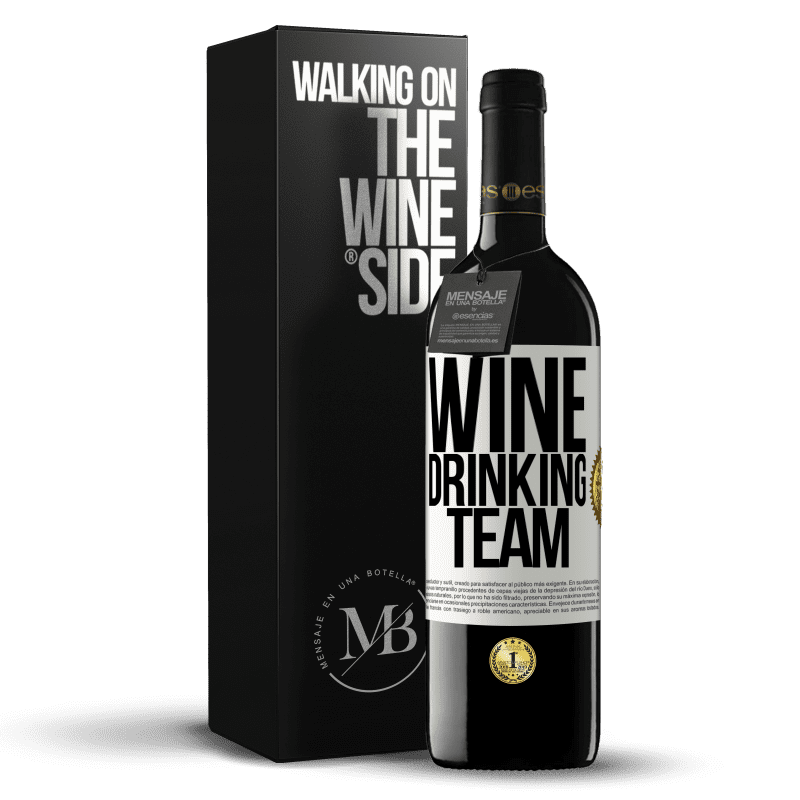 24,95 € Free Shipping | Red Wine RED Edition Crianza 6 Months Wine drinking team White Label. Customizable label Aging in oak barrels 6 Months Harvest 2018 Tempranillo