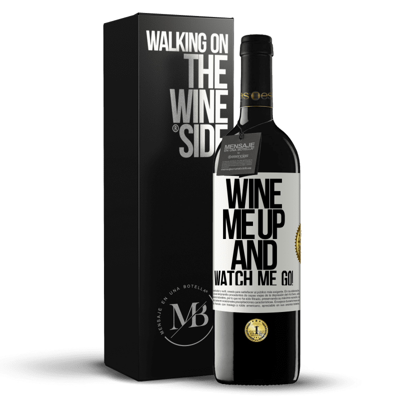 24,95 € Free Shipping | Red Wine RED Edition Crianza 6 Months Wine me up and watch me go! White Label. Customizable label Aging in oak barrels 6 Months Harvest 2018 Tempranillo