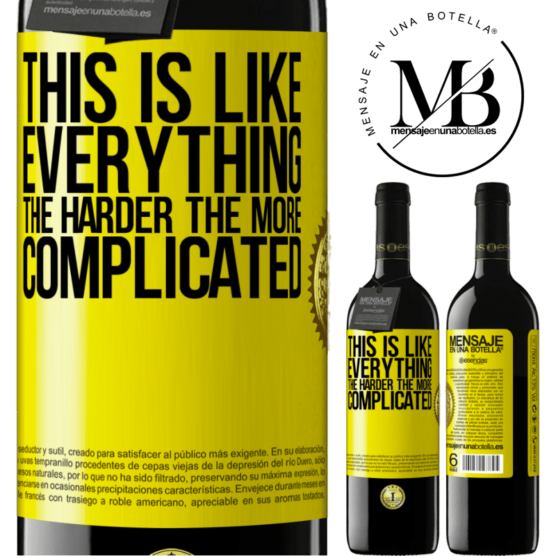 24,95 € Free Shipping | Red Wine RED Edition Crianza 6 Months This is like everything, the harder, the more complicated Yellow Label. Customizable label Aging in oak barrels 6 Months Harvest 2018 Tempranillo