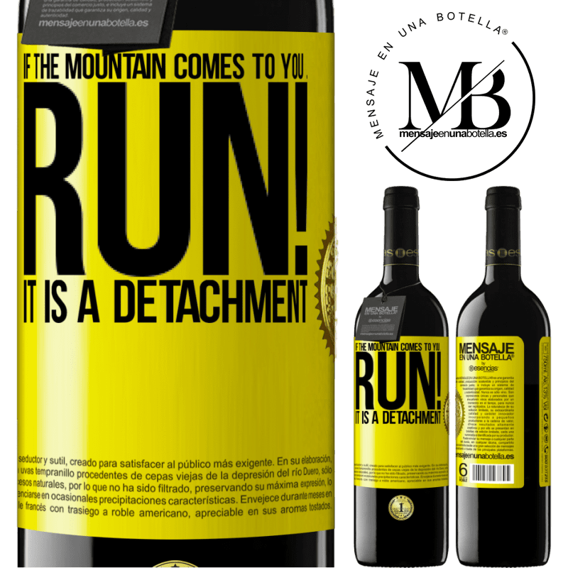24,95 € Free Shipping | Red Wine RED Edition Crianza 6 Months If the mountain comes to you ... Run! It is a detachment Yellow Label. Customizable label Aging in oak barrels 6 Months Harvest 2018 Tempranillo