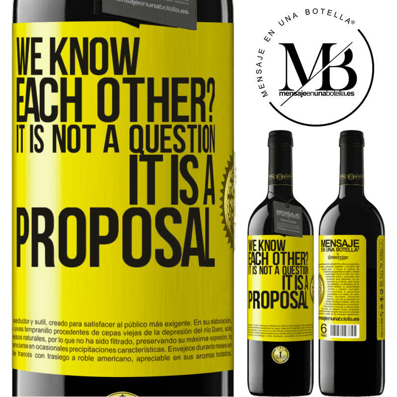24,95 € Free Shipping | Red Wine RED Edition Crianza 6 Months We know each other? It is not a question, it is a proposal Yellow Label. Customizable label Aging in oak barrels 6 Months Harvest 2018 Tempranillo