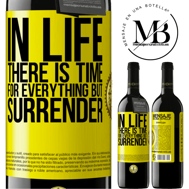 24,95 € Free Shipping | Red Wine RED Edition Crianza 6 Months In life there is time for everything but surrender Yellow Label. Customizable label Aging in oak barrels 6 Months Harvest 2018 Tempranillo