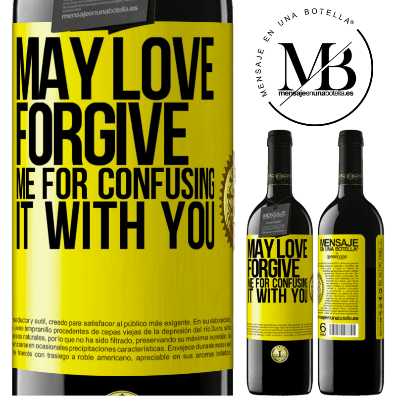 24,95 € Free Shipping | Red Wine RED Edition Crianza 6 Months May love forgive me for confusing it with you Yellow Label. Customizable label Aging in oak barrels 6 Months Harvest 2018 Tempranillo