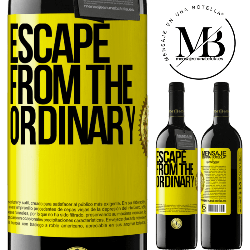 24,95 € Free Shipping | Red Wine RED Edition Crianza 6 Months Escape from the ordinary Yellow Label. Customizable label Aging in oak barrels 6 Months Harvest 2018 Tempranillo