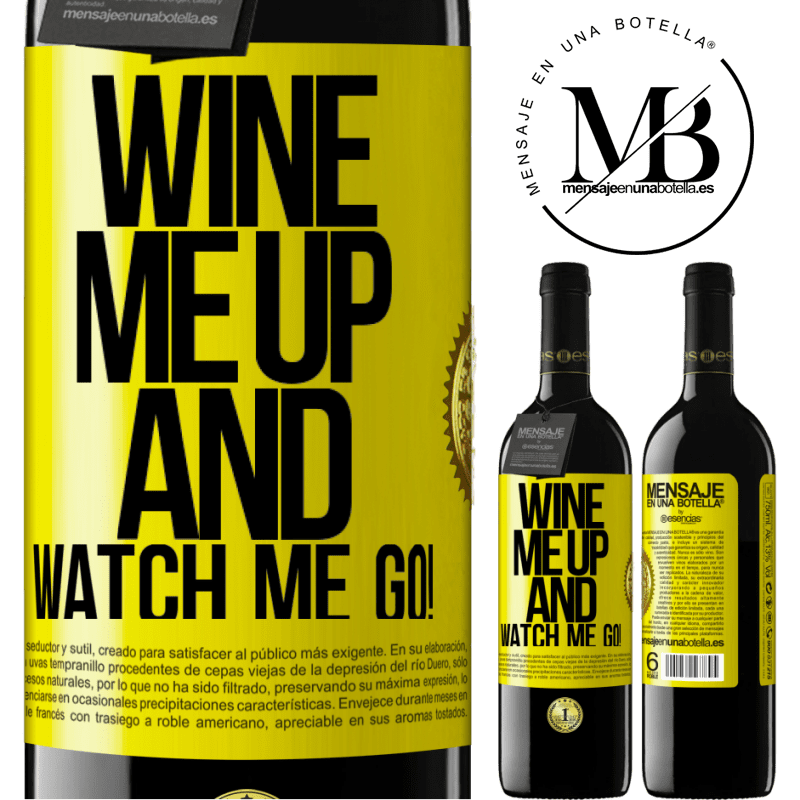 24,95 € Free Shipping | Red Wine RED Edition Crianza 6 Months Wine me up and watch me go! Yellow Label. Customizable label Aging in oak barrels 6 Months Harvest 2018 Tempranillo
