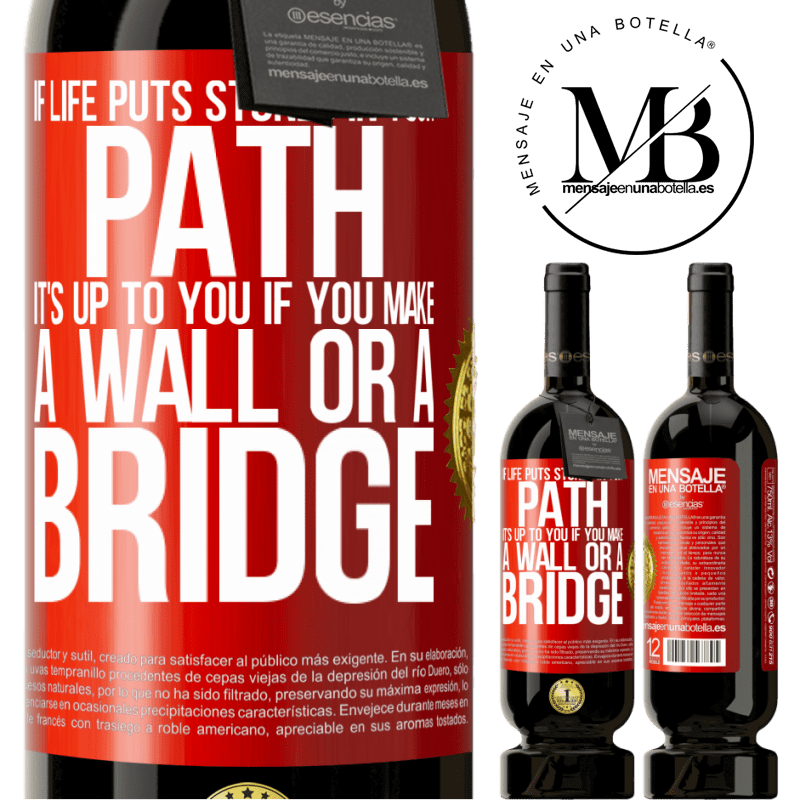 29,95 € Free Shipping | Red Wine Premium Edition MBS® Reserva If life puts stones in your path, it's up to you if you make a wall or a bridge Red Label. Customizable label Reserva 12 Months Harvest 2013 Tempranillo