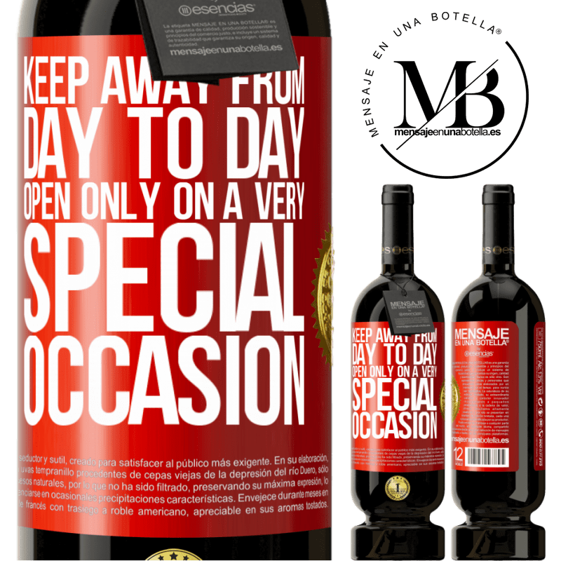 29,95 € Free Shipping | Red Wine Premium Edition MBS® Reserva Keep away from day to day. Open only on a very special occasion Red Label. Customizable label Reserva 12 Months Harvest 2013 Tempranillo
