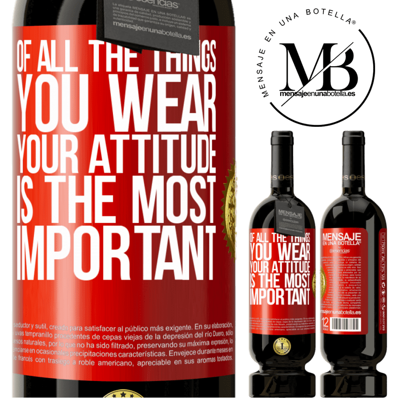 29,95 € Free Shipping | Red Wine Premium Edition MBS® Reserva Of all the things you wear, your attitude is the most important Red Label. Customizable label Reserva 12 Months Harvest 2013 Tempranillo