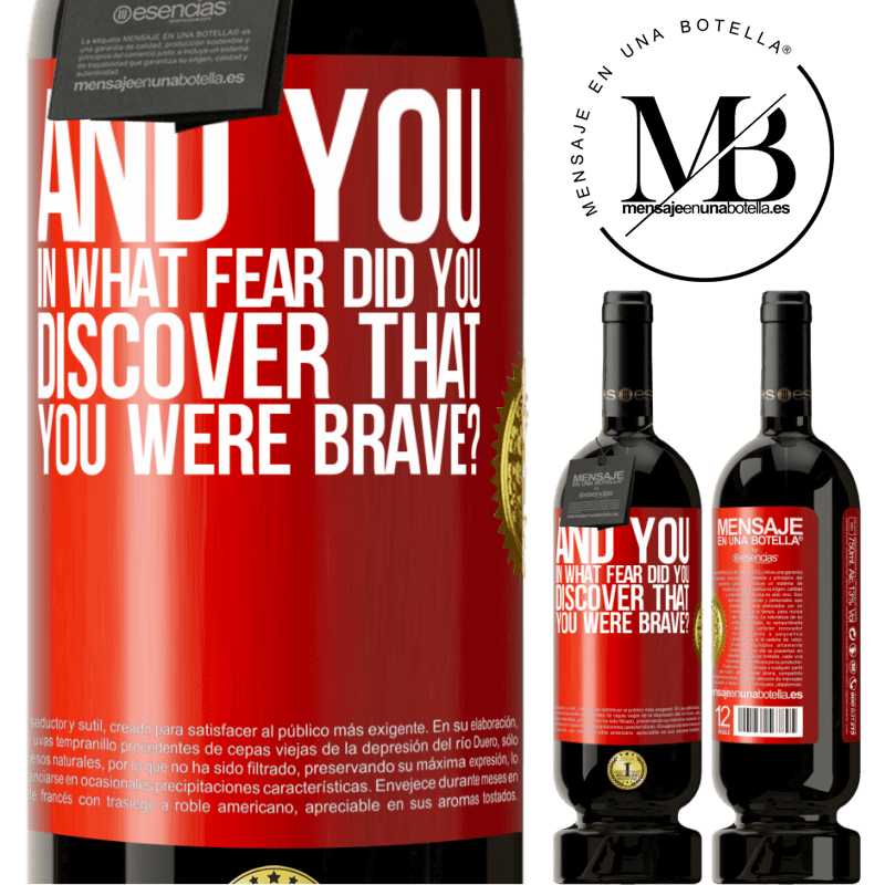 29,95 € Free Shipping | Red Wine Premium Edition MBS® Reserva And you, in what fear did you discover that you were brave? Red Label. Customizable label Reserva 12 Months Harvest 2013 Tempranillo