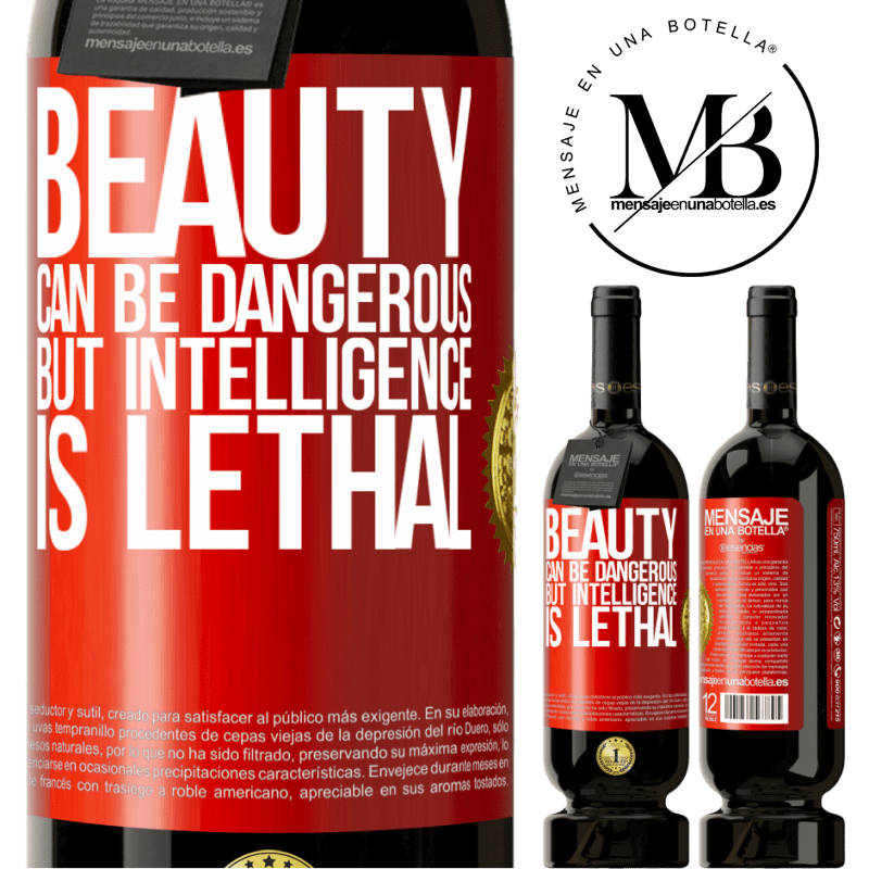 29,95 € Free Shipping | Red Wine Premium Edition MBS® Reserva Beauty can be dangerous, but intelligence is lethal Red Label. Customizable label Reserva 12 Months Harvest 2013 Tempranillo