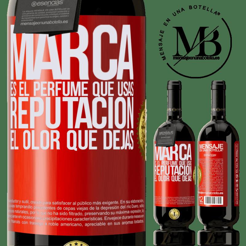 29,95 € Envoi gratuit | Vin rouge Édition Premium MBS® Reserva La marque est le parfum que vous utilisez. Réputation, l'odeur que vous laissez Étiquette Rouge. Étiquette personnalisable Reserva 12 Mois Récolte 2013 Tempranillo
