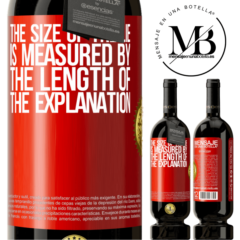 29,95 € Free Shipping | Red Wine Premium Edition MBS® Reserva The size of the lie is measured by the length of the explanation Red Label. Customizable label Reserva 12 Months Harvest 2013 Tempranillo