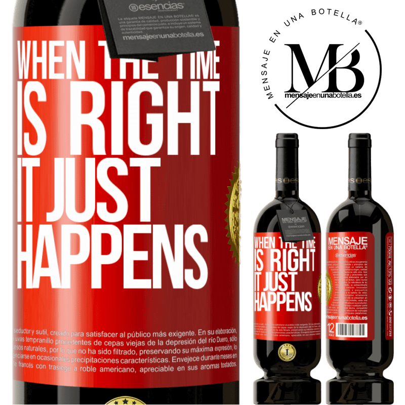 29,95 € Free Shipping | Red Wine Premium Edition MBS® Reserva When the time is right, it just happens Red Label. Customizable label Reserva 12 Months Harvest 2013 Tempranillo
