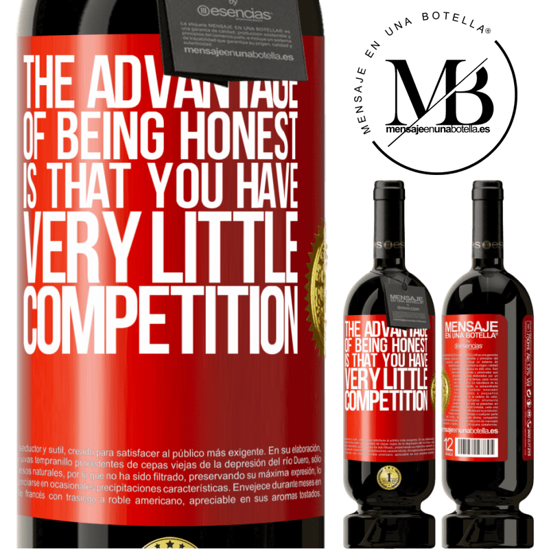 29,95 € Free Shipping | Red Wine Premium Edition MBS® Reserva The advantage of being honest is that you have very little competition Red Label. Customizable label Reserva 12 Months Harvest 2013 Tempranillo