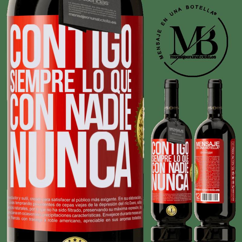 29,95 € Envoi gratuit | Vin rouge Édition Premium MBS® Reserva Avec toi toujours avec quiconque Étiquette Rouge. Étiquette personnalisable Reserva 12 Mois Récolte 2013 Tempranillo