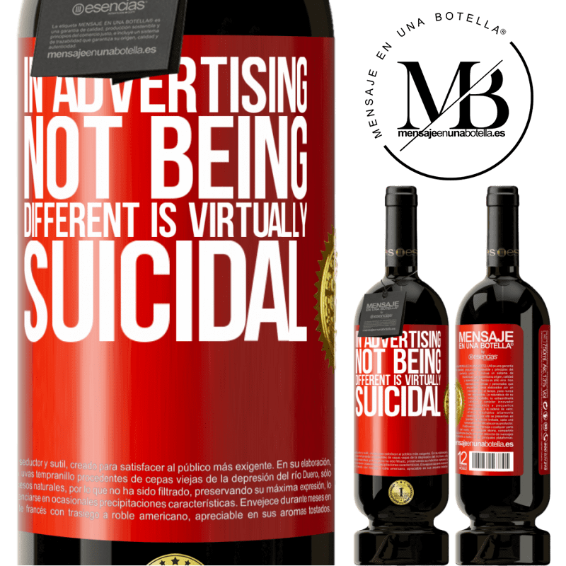 29,95 € Free Shipping | Red Wine Premium Edition MBS® Reserva In advertising, not being different is virtually suicidal Red Label. Customizable label Reserva 12 Months Harvest 2013 Tempranillo