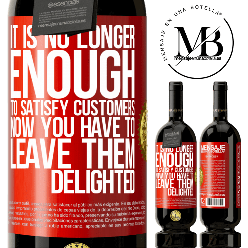 29,95 € Free Shipping | Red Wine Premium Edition MBS® Reserva It is no longer enough to satisfy customers. Now you have to leave them delighted Red Label. Customizable label Reserva 12 Months Harvest 2013 Tempranillo