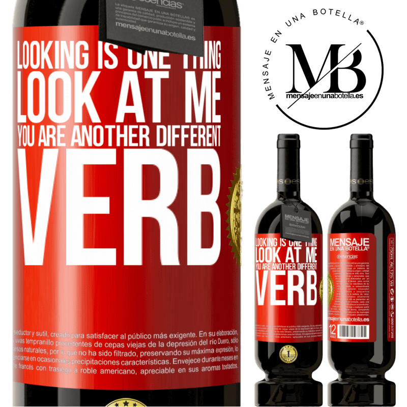 29,95 € Free Shipping | Red Wine Premium Edition MBS® Reserva Looking is one thing. Look at me, you are another different verb Red Label. Customizable label Reserva 12 Months Harvest 2013 Tempranillo