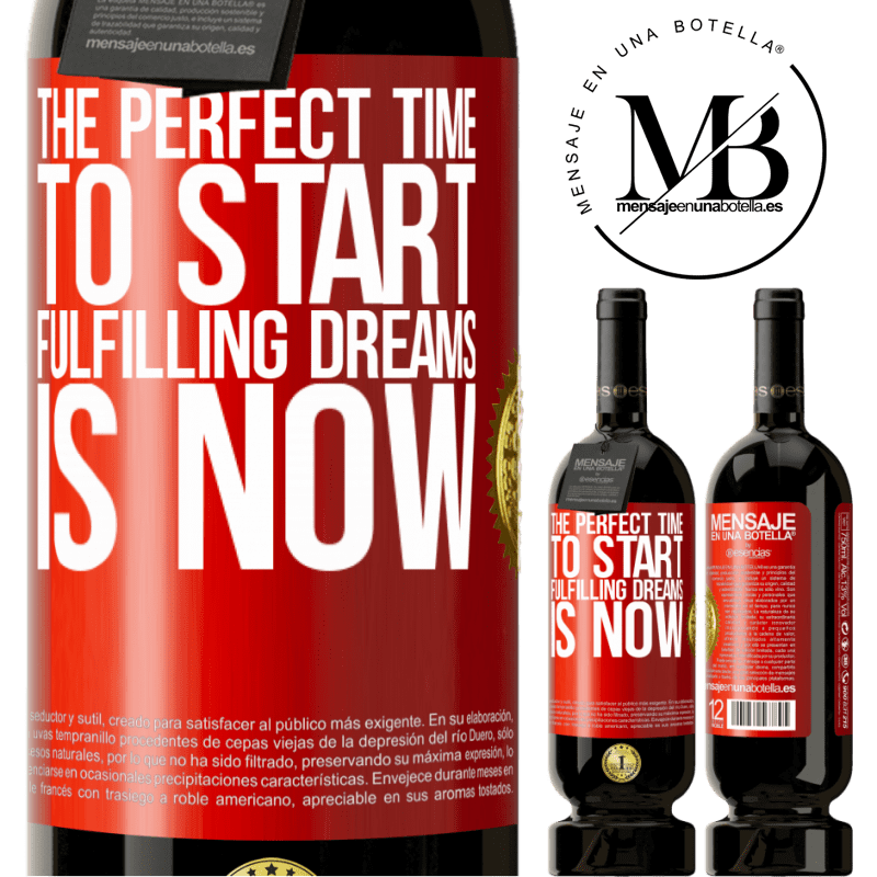 29,95 € Free Shipping | Red Wine Premium Edition MBS® Reserva The perfect time to start fulfilling dreams is now Red Label. Customizable label Reserva 12 Months Harvest 2013 Tempranillo
