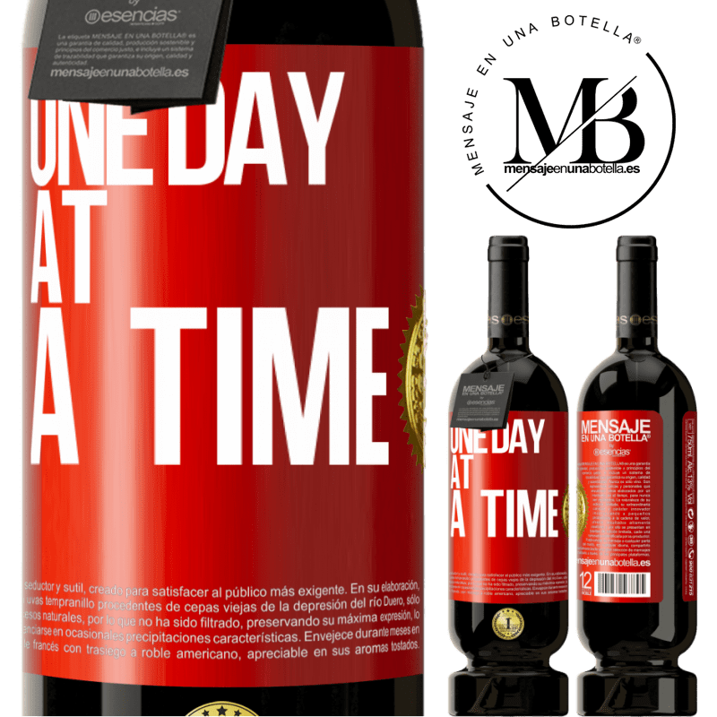 29,95 € Free Shipping | Red Wine Premium Edition MBS® Reserva One day at a time Red Label. Customizable label Reserva 12 Months Harvest 2013 Tempranillo