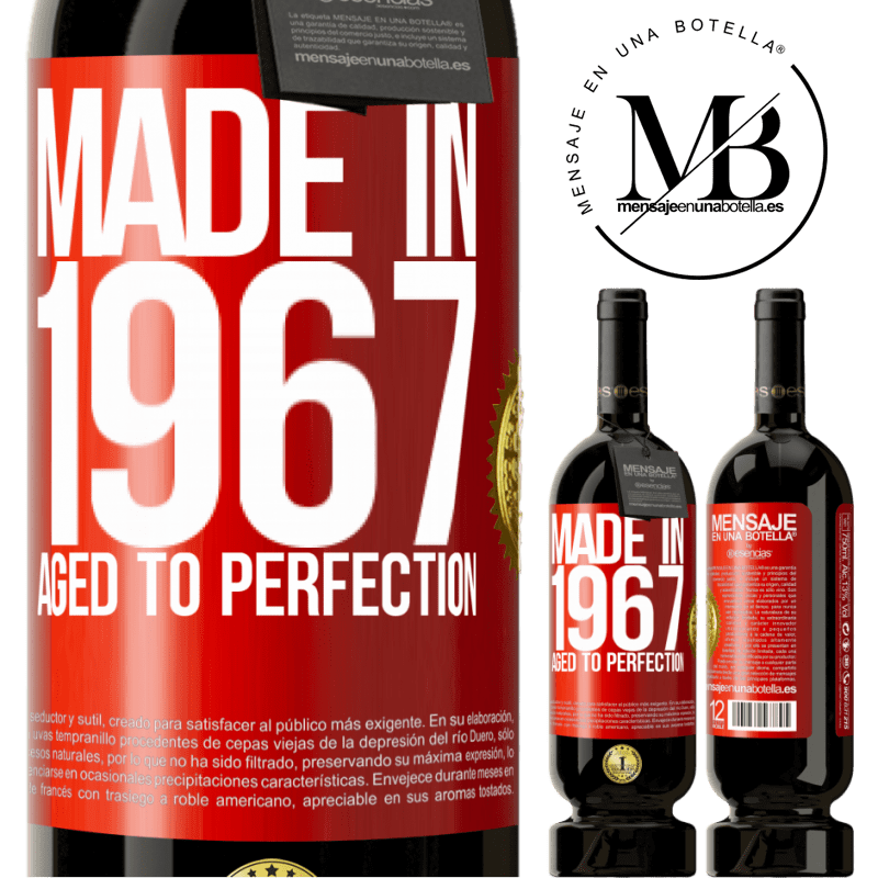 29,95 € Free Shipping | Red Wine Premium Edition MBS® Reserva Made in 1967. Aged to perfection Red Label. Customizable label Reserva 12 Months Harvest 2013 Tempranillo