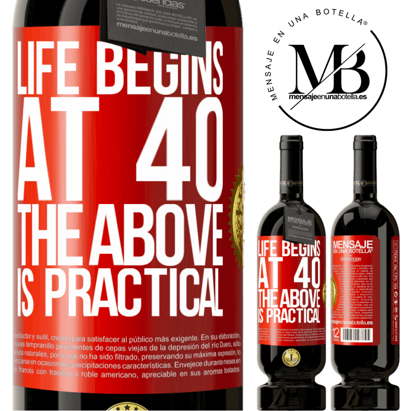 29,95 € Free Shipping | Red Wine Premium Edition MBS® Reserva Life begins at 40. The above is practical Red Label. Customizable label Reserva 12 Months Harvest 2013 Tempranillo