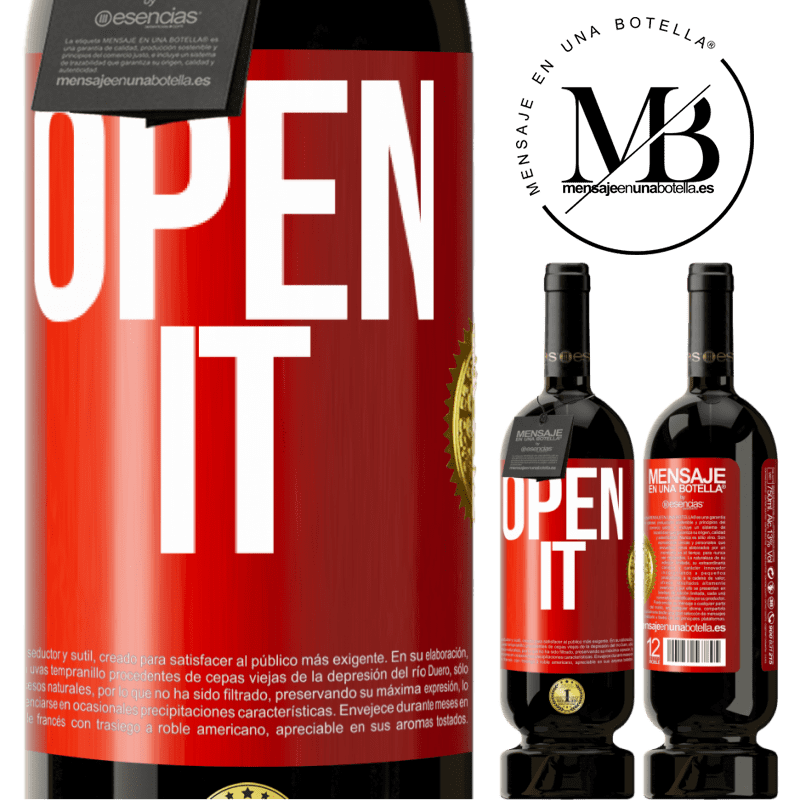 29,95 € Free Shipping | Red Wine Premium Edition MBS® Reserva Open it Red Label. Customizable label Reserva 12 Months Harvest 2013 Tempranillo