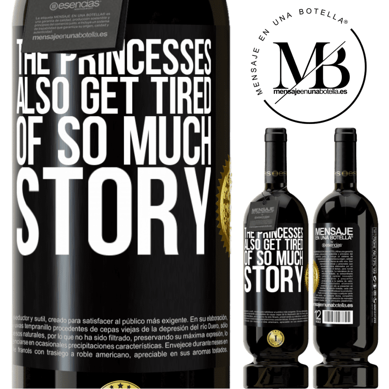 29,95 € Free Shipping | Red Wine Premium Edition MBS® Reserva The princesses also get tired of so much story Black Label. Customizable label Reserva 12 Months Harvest 2013 Tempranillo