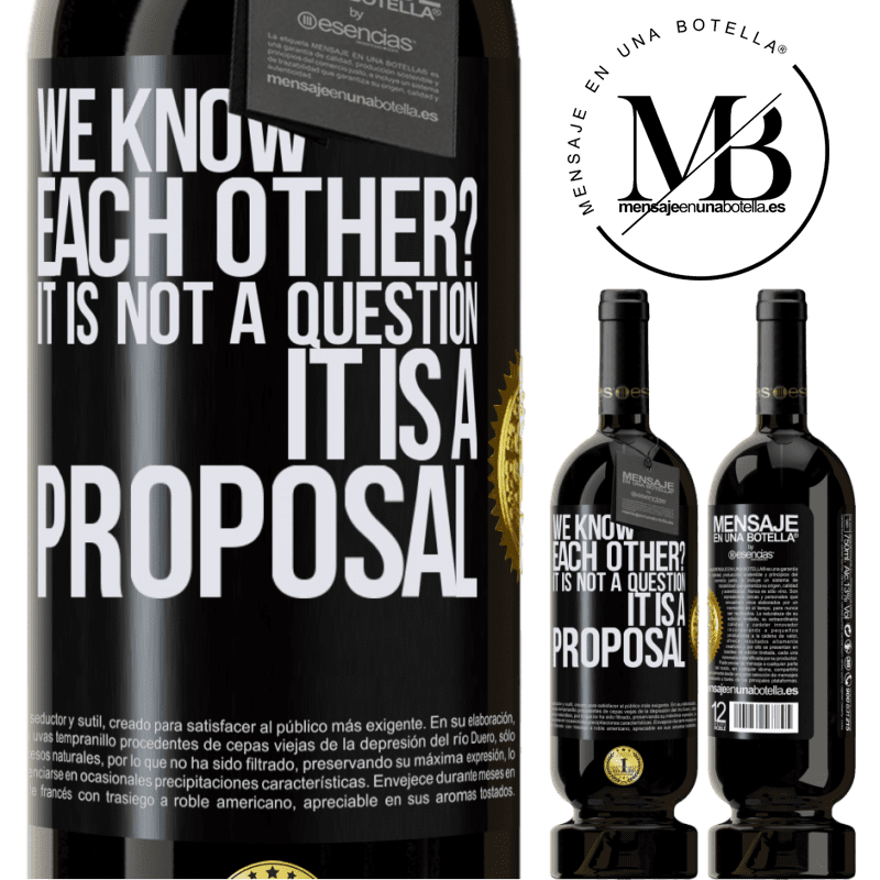 29,95 € Free Shipping   Red Wine Premium Edition MBS® Reserva We know each other? It is not a question, it is a proposal Black Label. Customizable label Reserva 12 Months Harvest 2013 Tempranillo