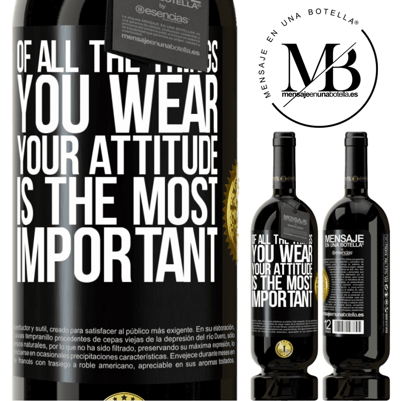 29,95 € Free Shipping | Red Wine Premium Edition MBS® Reserva Of all the things you wear, your attitude is the most important Black Label. Customizable label Reserva 12 Months Harvest 2013 Tempranillo