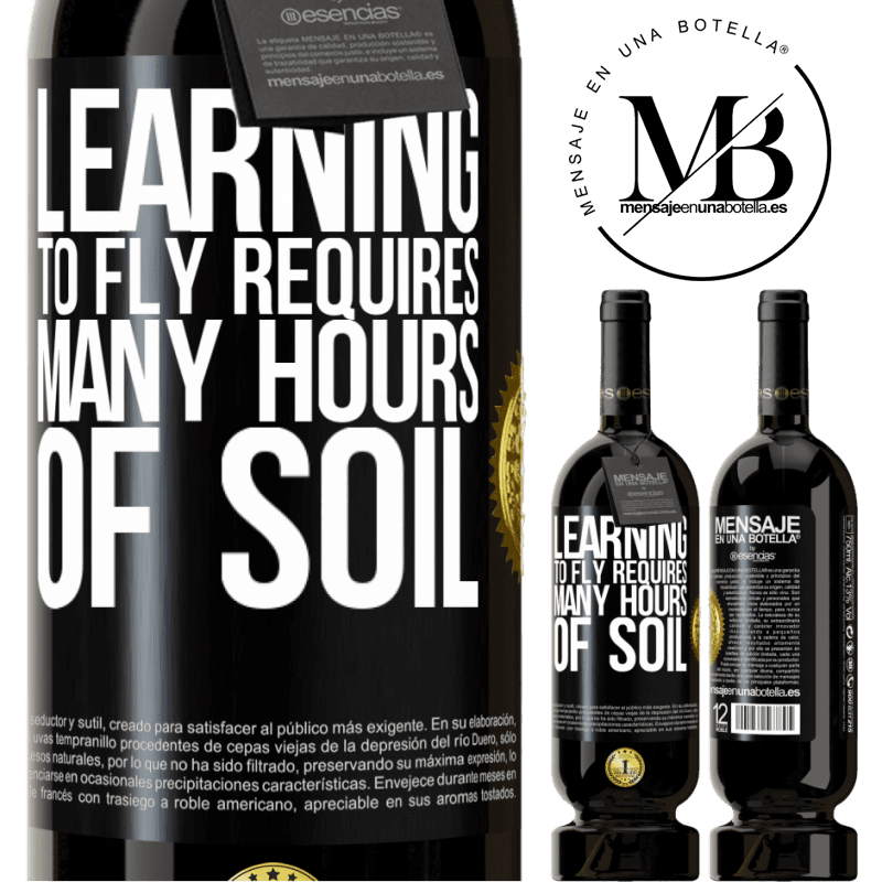 29,95 € Free Shipping | Red Wine Premium Edition MBS® Reserva Learning to fly requires many hours of soil Black Label. Customizable label Reserva 12 Months Harvest 2013 Tempranillo