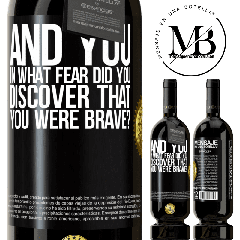 29,95 € Free Shipping | Red Wine Premium Edition MBS® Reserva And you, in what fear did you discover that you were brave? Black Label. Customizable label Reserva 12 Months Harvest 2013 Tempranillo