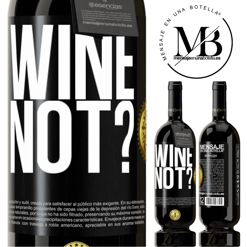 29,95 € Free Shipping | Red Wine Premium Edition MBS® Reserva Wine not? Black Label. Customizable label Reserva 12 Months Harvest 2013 Tempranillo