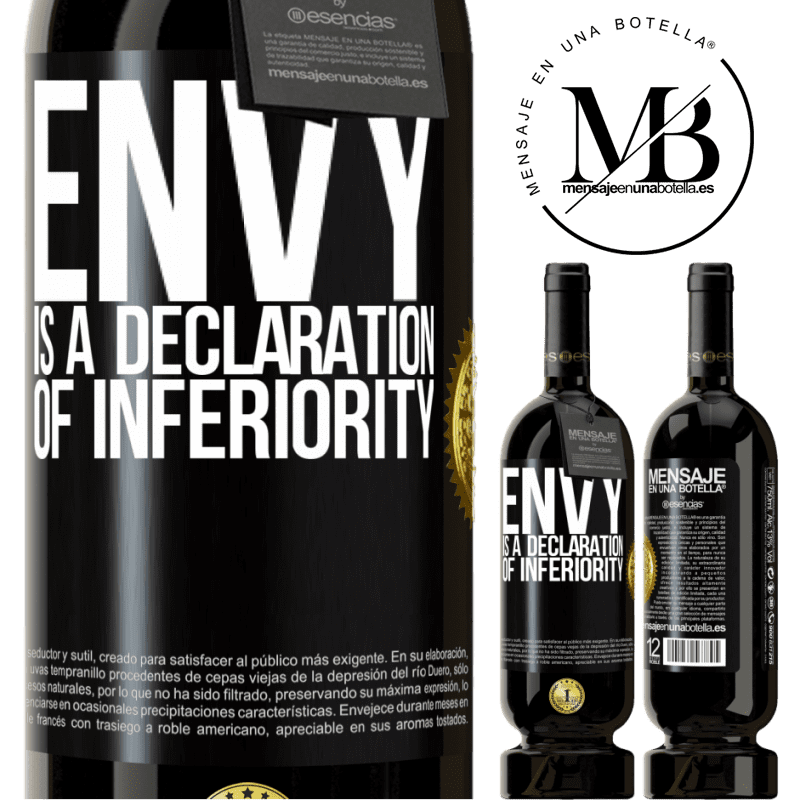 29,95 € Free Shipping | Red Wine Premium Edition MBS® Reserva Envy is a declaration of inferiority Black Label. Customizable label Reserva 12 Months Harvest 2013 Tempranillo