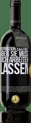 29,95 € Kostenloser Versand | Rotwein Premium Edition MBS® Reserva Inspiration existiert, aber sie muss dich arbeiten lassen Schwarzes Etikett. Anpassbares Etikett Reserva 12 Monate Ernte 2013 Tempranillo