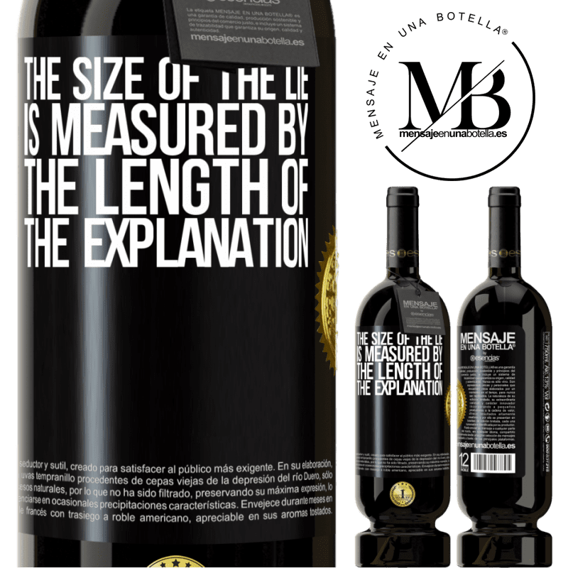29,95 € Free Shipping | Red Wine Premium Edition MBS® Reserva The size of the lie is measured by the length of the explanation Black Label. Customizable label Reserva 12 Months Harvest 2013 Tempranillo
