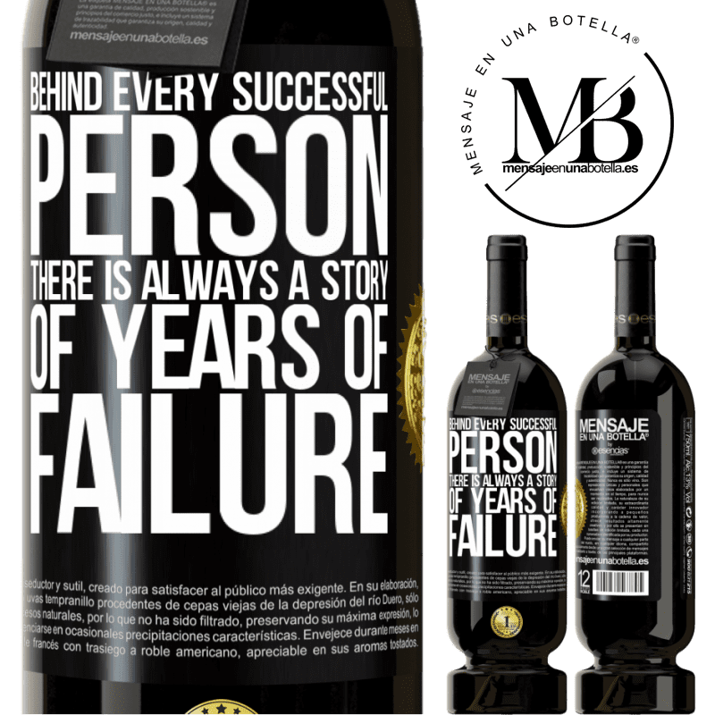 29,95 € Free Shipping | Red Wine Premium Edition MBS® Reserva Behind every successful person, there is always a story of years of failure Black Label. Customizable label Reserva 12 Months Harvest 2013 Tempranillo
