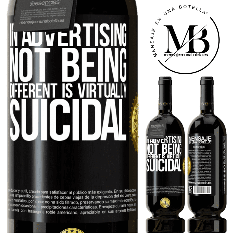 29,95 € Free Shipping | Red Wine Premium Edition MBS® Reserva In advertising, not being different is virtually suicidal Black Label. Customizable label Reserva 12 Months Harvest 2013 Tempranillo